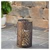 "Smart Living Arboretum 8"" H LED Candle Outdoor Lantern- Antique Black - image 3 of 4"