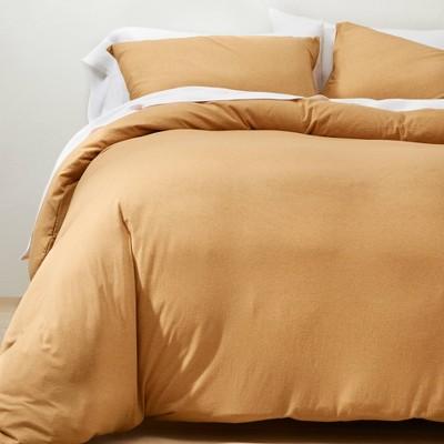 Full/Queen Jersey Duvet Cover & Sham Set Honey - Casaluna™