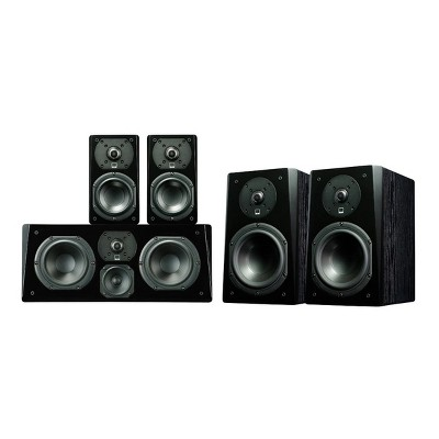 SVS Prime Bookshelf Surround System (Black Ash)