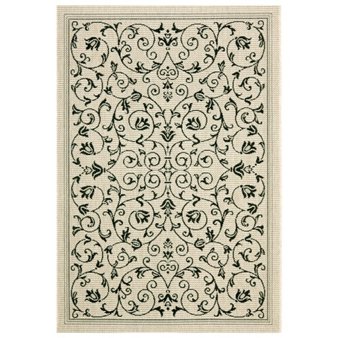 "Vaucluse Rectangle 5'3"" X 7'7"" Outdoor Rug - Sand / Black - Safavieh® - image 1 of 1"