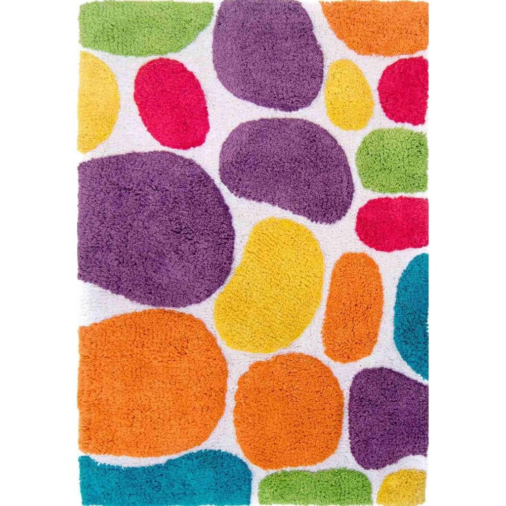 24 34 X36 34 Pebbles Brights Bath Rug Purple Orange Chesapeake Merch Inc