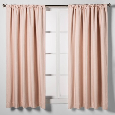 "63""x42"" Heathered Thermal Room Darkening Curtain Panel Pink - Room Essentials™"