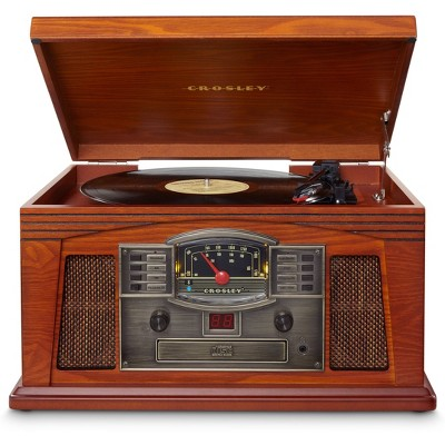 Crosley Lancaster Entertainment Center With Bluetooth - Paprika