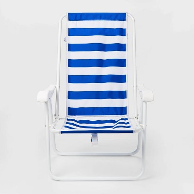 Cabana Stripe Backpack Chair Blue - Sun Squad™