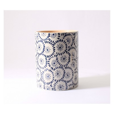 Ceramic Container Candle Sheer Petals 15oz - Happy Place