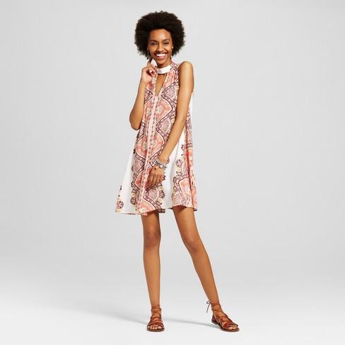 Women s Cutout Shift Dress - Xhilaration™ (Juniors ) Hibiscus M   Target afbd0a4ca