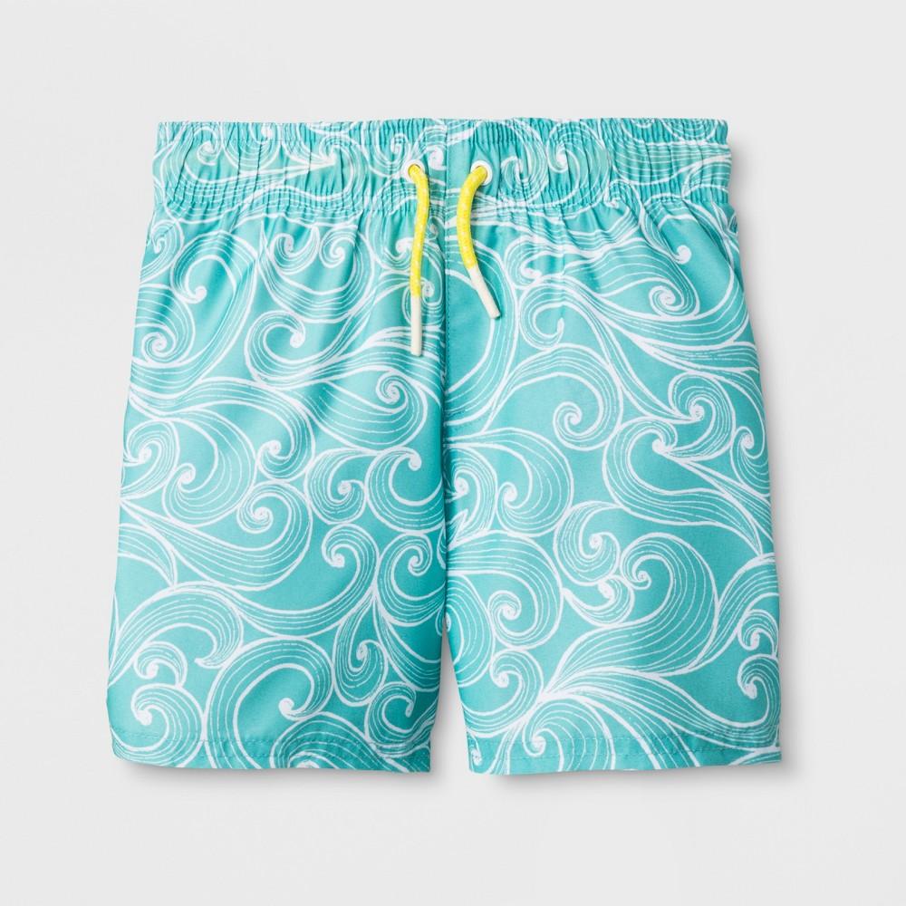 Toddler Boys' Swim Trunks - Cat & Jack Aqua 3T, Blue
