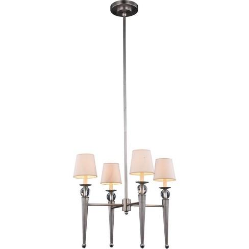 "Elegant Lighting 1489D26 Olympia 4 Light 26"" Wide Shaded Chandelier - image 1 of 1"