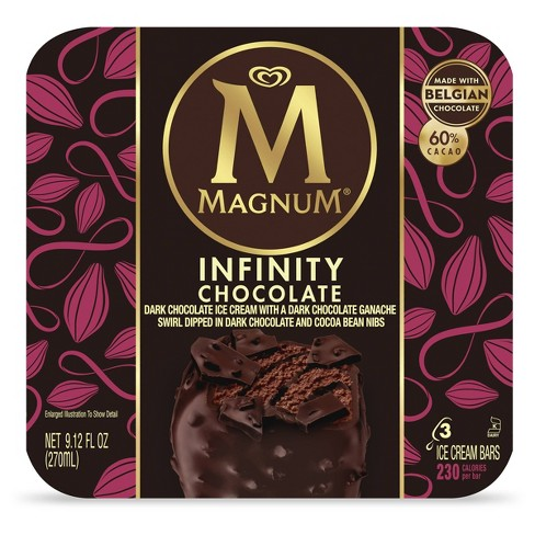 Magnum Chocolate Infinity Ice Cream Bars - 3ct - image 1 of 4