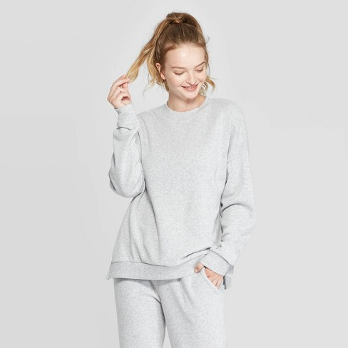 Women's Cozy Lounge Crew Sweatshirt - Colsie™ - image 1 of 3