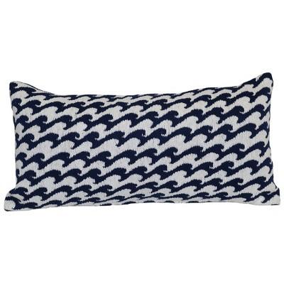 Outdoor Throw Pillow Lumbar - Woven Waves - Threshold™