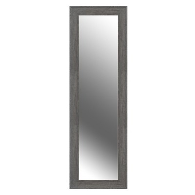 """22""""X70"""" Woodgrain Framed Wall Or Leaner Mirror Gray   Gallery Solutions by Patton Wall Decor"""