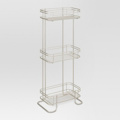 3 Tier Bathroom Storage Shelves Silver - Threshold™