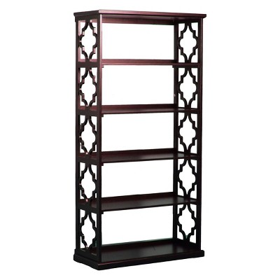 Powell Furniture Anthony 72 5 Shelf Painted Bookcase Espresso   Powell  Company, Espresso Brown