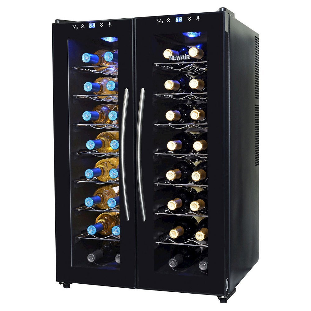 NewAir 32 Bottle Dual Zone Wine Cooler – Black AW-320ED 50149405