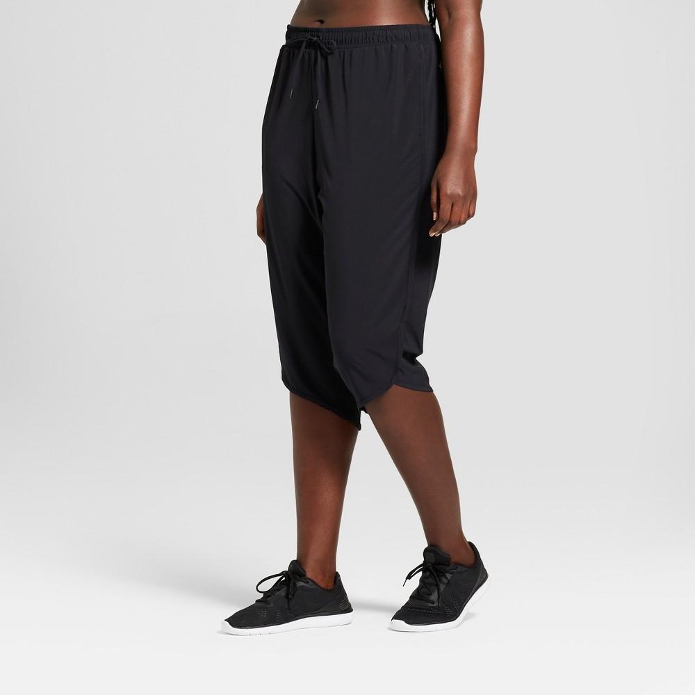Women's Plus Size Crop Woven Pants - JoyLab Black 2X