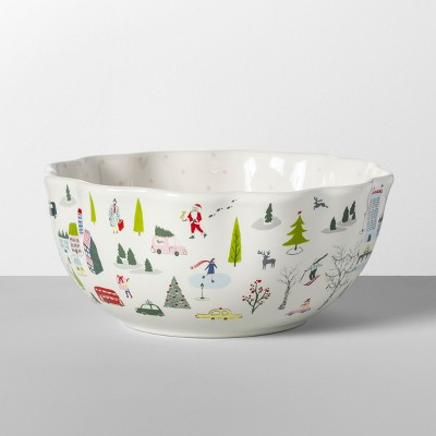 59.2oz Stoneware Christmas In The City Serving Bowl - Opalhouse™