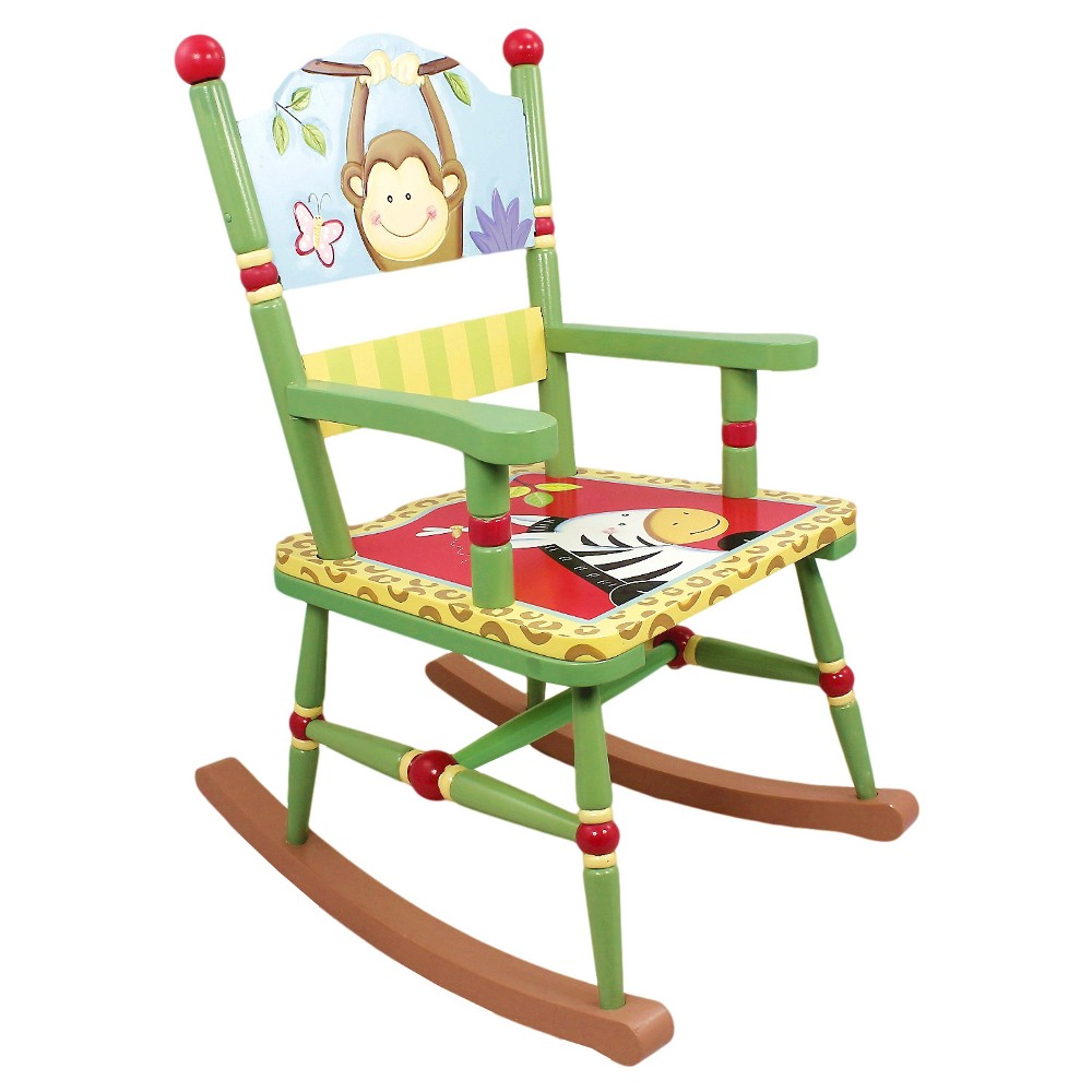 Image of Fantasy Fields Sunny Safari Rocking Chair - Teamson