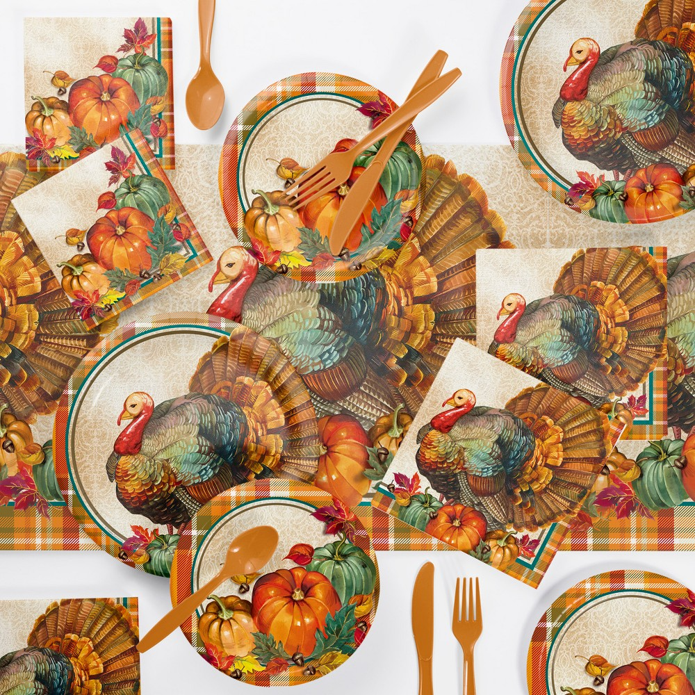 Traditional Thanksgiving Party Supplies Kit