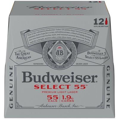 Budweiser Select 55 Premium Light Beer - 12pk/12 fl oz Bottles