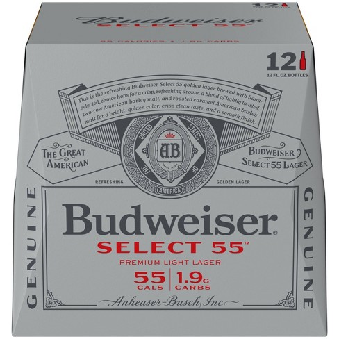 Budweiser Select 55 Premium Light Beer - 12pk/12 fl oz Bottles - image 1 of 2