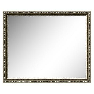 """18"""" x 22"""" Parisian Silver Framed Wall Mirror - Amanti Art"""
