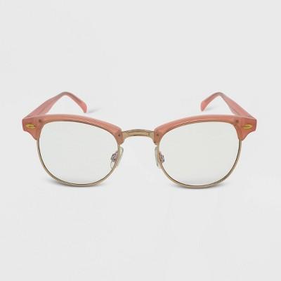 Women's Retro Blue Light Filtering Glasses - Wild Fable™ Pink