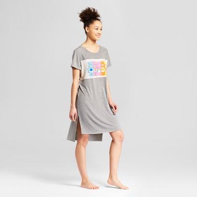 Women's Care Bears Nightgown Shirt - Gray XS