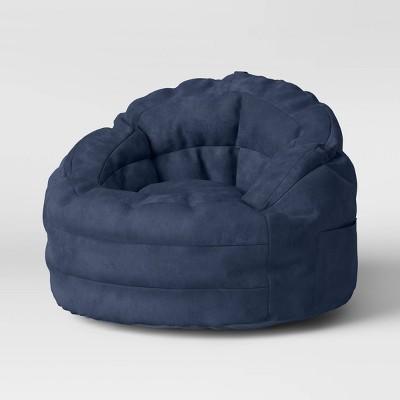 Settle In Bean Bag Chair Navy - Pillowfort™