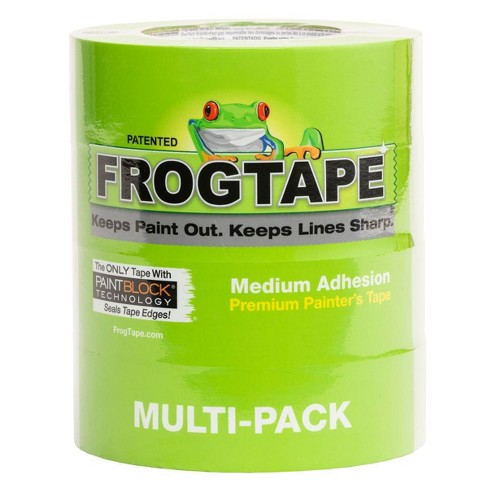 """FrogTape 1.41""""x60yd 4pk Multi Surface Painting Tape Green - image 1 of 4"""