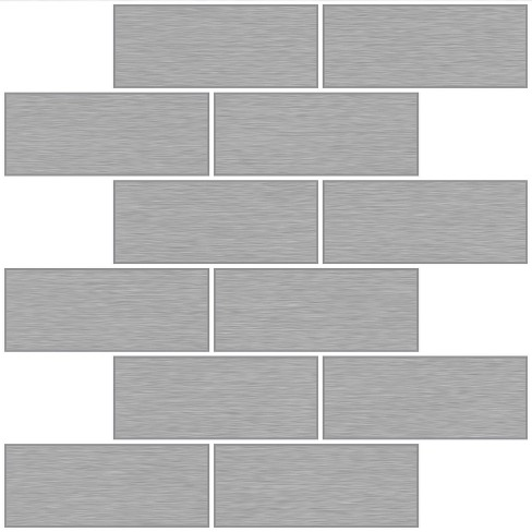 Brewster Metro Brushed Peel Stick Backsplash Tile Wallpaper Silver Target