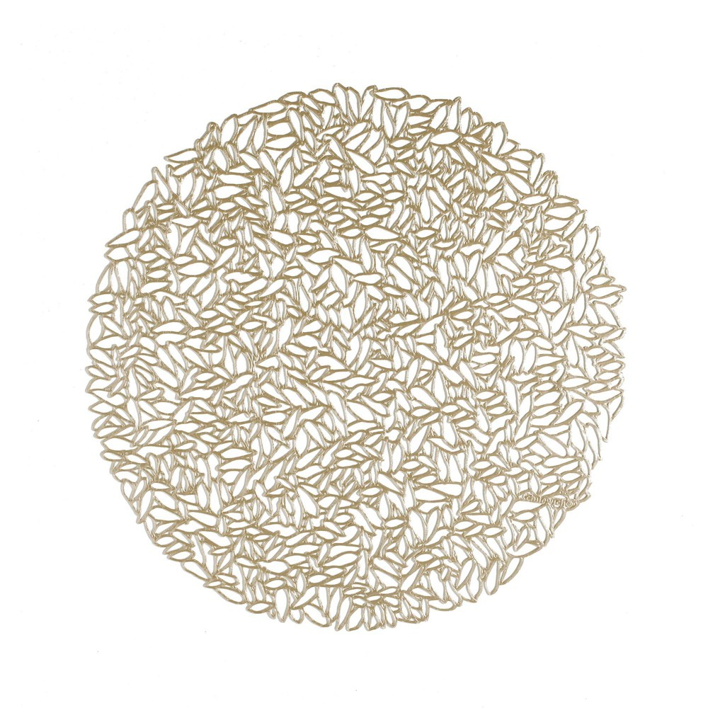 Top 4pk Pressed Petal Placemats Champagne - Chilewich