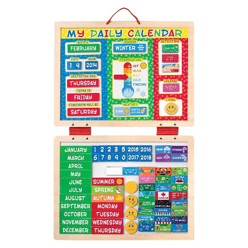 melissa doug my first daily magnetic calendar target