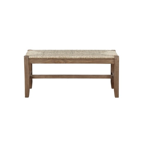 "40"" Davenport Wood Bench Light Amber - Alaterre Furniture - image 1 of 4"