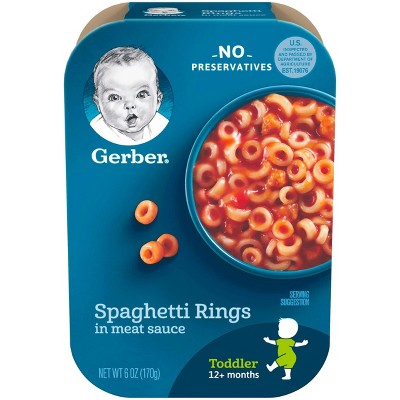 Gerber Toddler Spaghetti Rings in a Meat Sauce Baby Meals - 6oz
