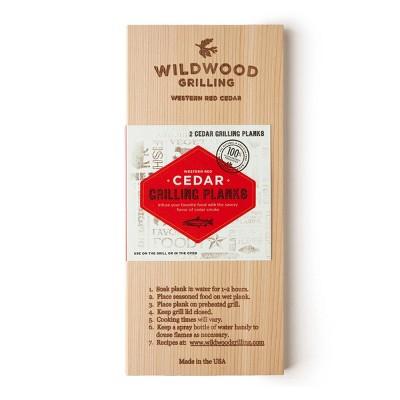 "Wildwood Grilling 2pk 5"" x 11"" Cedar Plank"