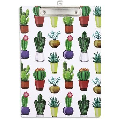 Decorative Plastic Clipboard, Cactus Design, Letter Size