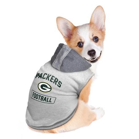 more photos 43fda 70293 Green Bay Packers Little Earth Pet Hooded Crewneck Football Shirt - Gray XL