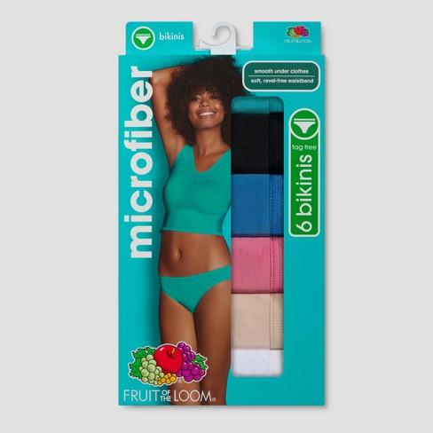 e97f5714c71b Fruit Of The Loom® Women's Microfiber 6pk Bikini (Colors May Vary ...