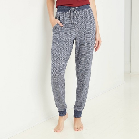 Women's Striped Perfectly Cozy Lounge Jogger Pants - Stars Above™ - image 1 of 2