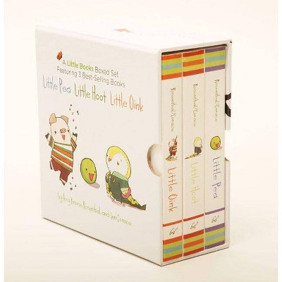 A Little Books Boxed Set Featuring Little Pea, Little Hoot, Little Oink - by Amy Krouse Rosenthal