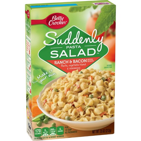 Betty Crocker Suddenly Salad Pasta Kit Ranch & Bacon 7.5 oz - image 1 of 4