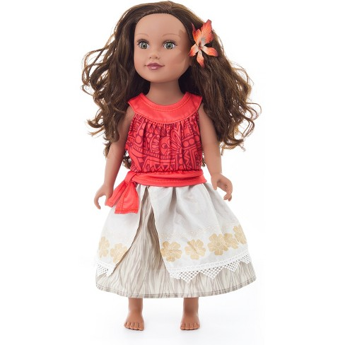 Little Adventures Doll Dress Polynesian Princess with Hair Clip - image 1 of 1