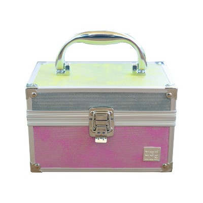 Caboodles Train Case Color Block Metallic Makeup Bag
