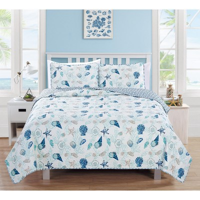 Home Fashion Designs Bali Coastal Beach Theme Quilt Set