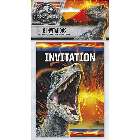 Jurassic World: Fallen Kingdom 8ct 2 Party Invites - image 1 of 1