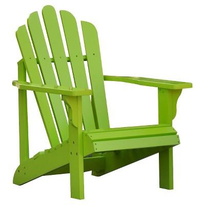 Beau Adirondack Chair   Bright Green   Shine Company