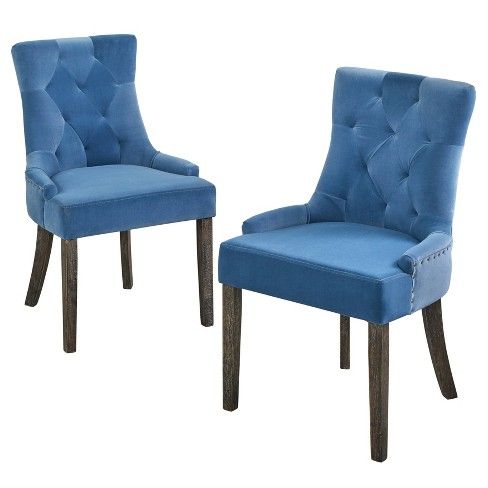 Set Of 2 Ariane Dining Chairs Blue Angelo Home Target