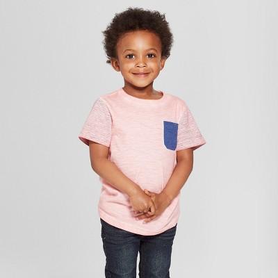 Toddler Boys' Pocket Short Sleeve T-Shirt - Cat & Jack™ Pink 4T