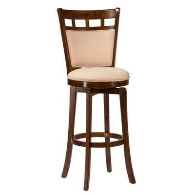 "30"" Jefferson Swivel Height Barstool Ivory - Hillsdale Furniture"